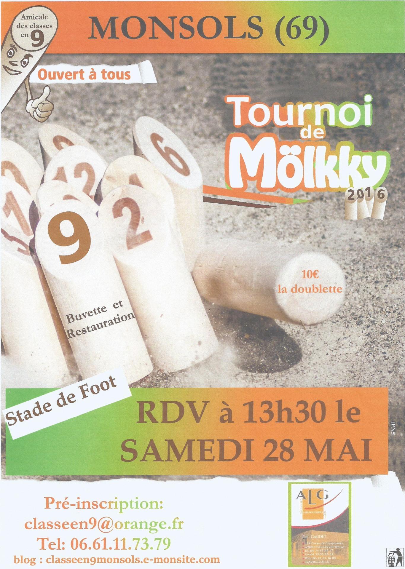 2ème Edition de notre tournoi de Mölkky
