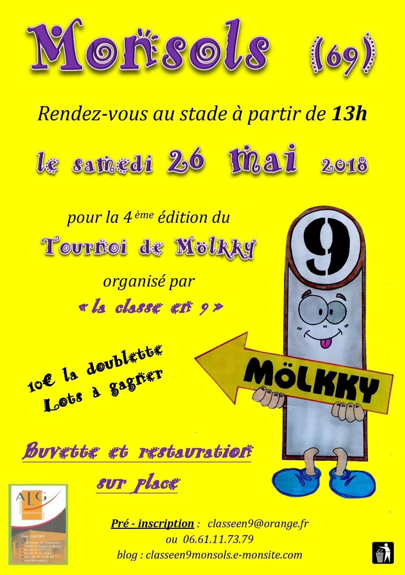 TOURNOI de Molkky 2018 à Monsols